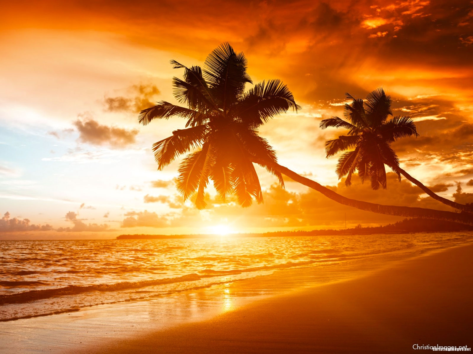Sunrise Beach Presentation Background